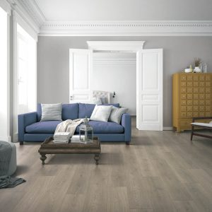 Blue couch on Laminate floors | Westport Flooring
