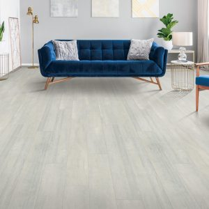 Blue couch on Laminate flooring | Westport Flooring