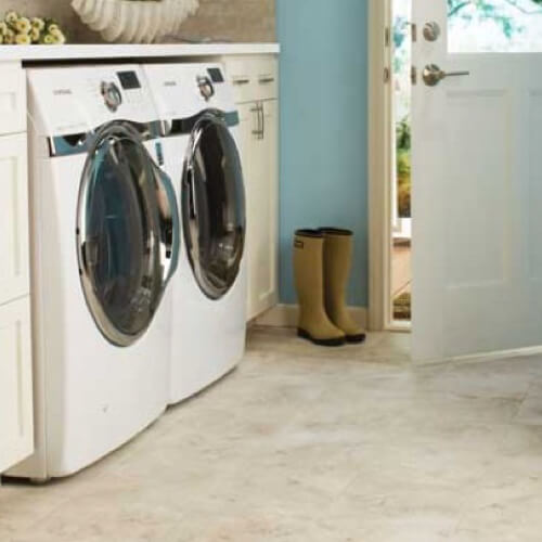 Tile laundry room | Westport Flooring