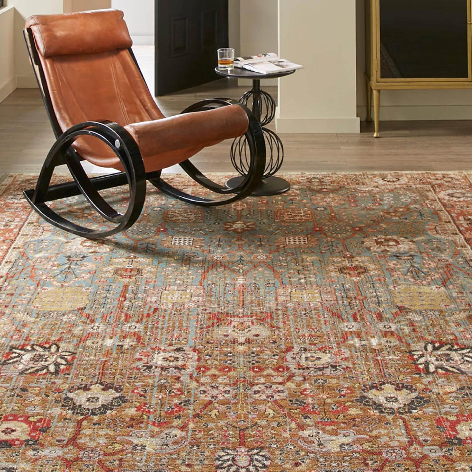 Armchair on area rug | Westport Flooring