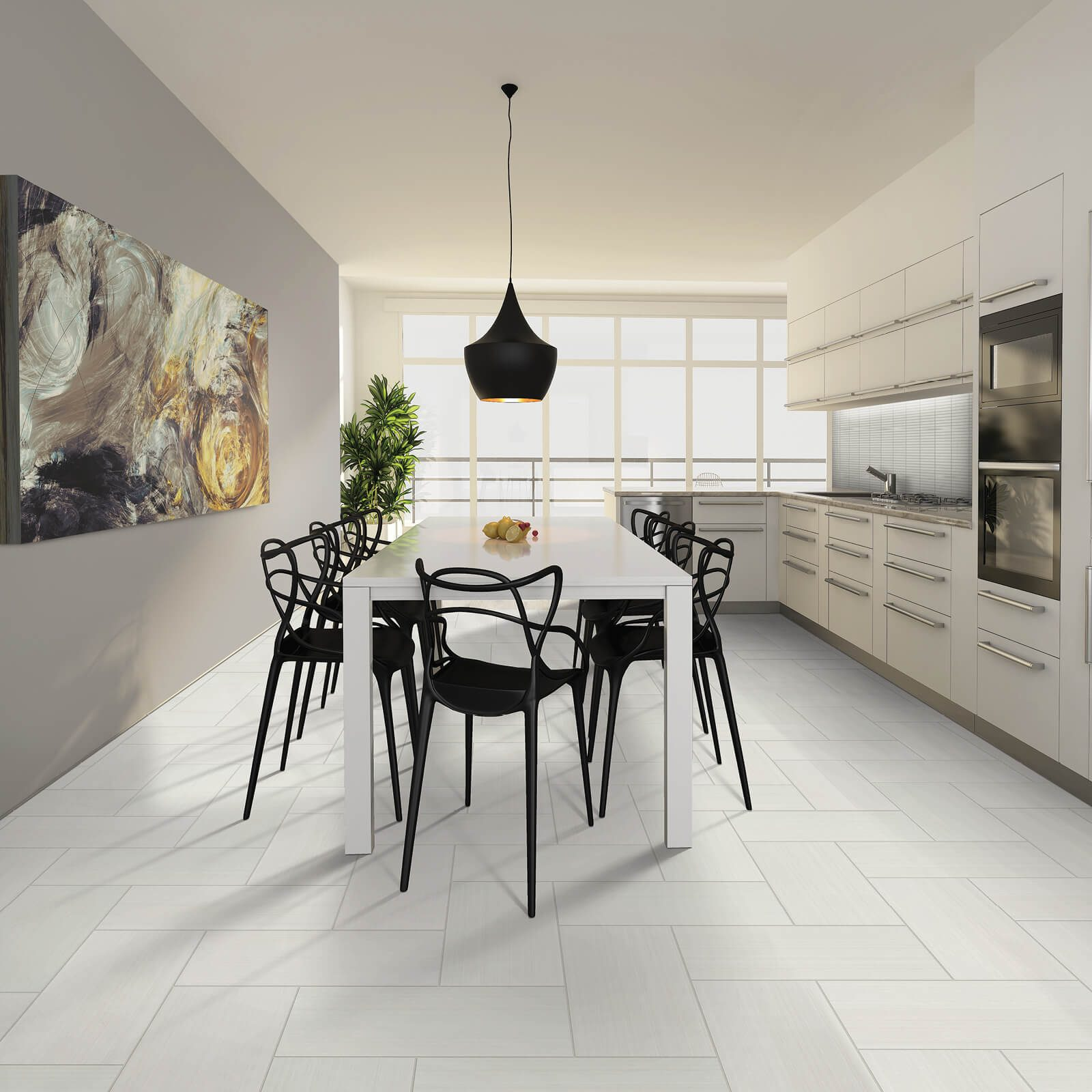 Verzino tile in kitchen | Westport Flooring