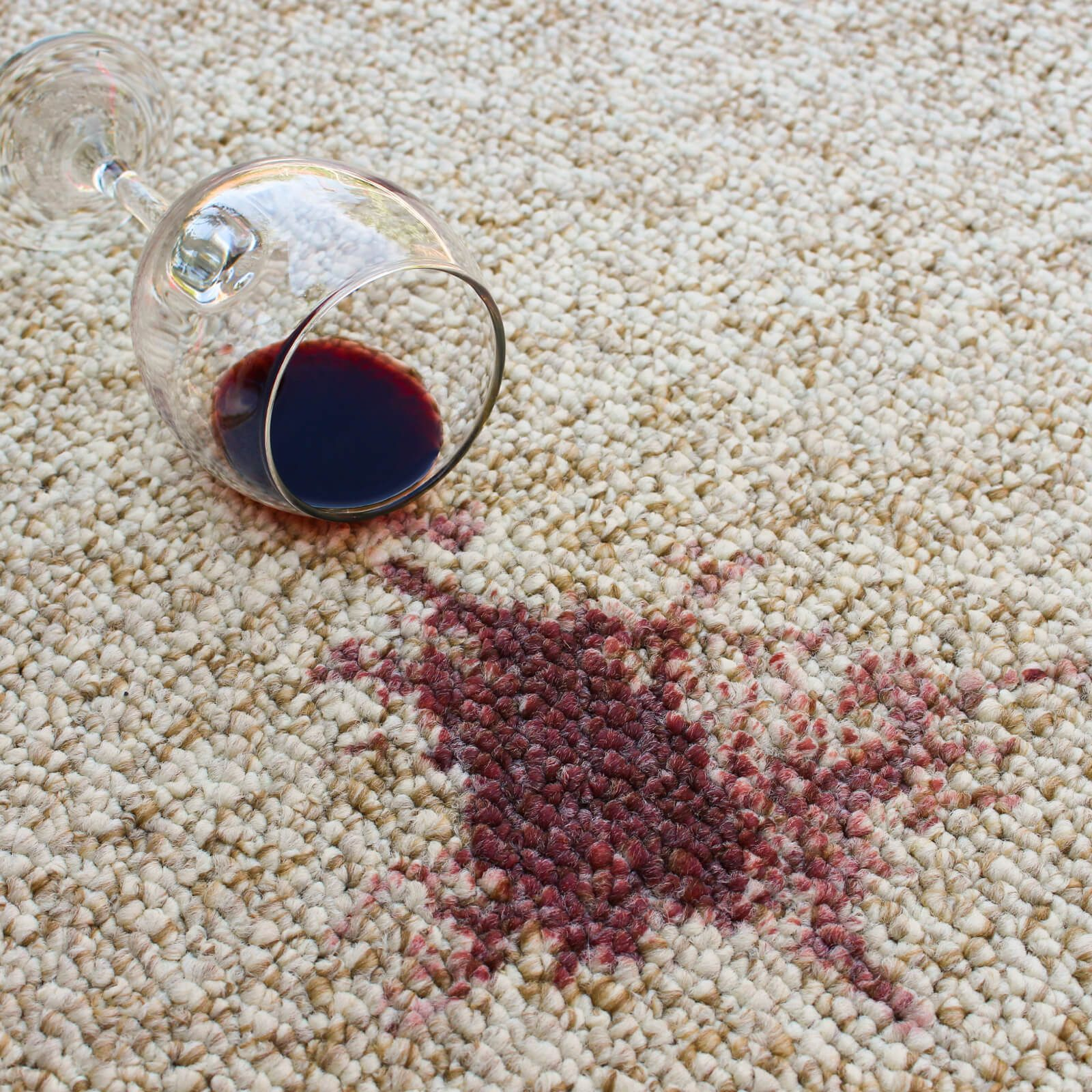 Red wine spill on carpet | Westport Flooring
